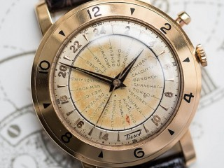 TISSOT Worldtimer very rare in 18ct gold