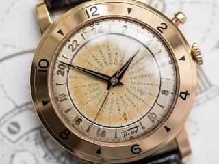 TISSOT Worldtimer very rare in 18ct gold